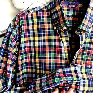 ALAN FLUSSER LONG SLEEVE BLUE CHECK SHIRT